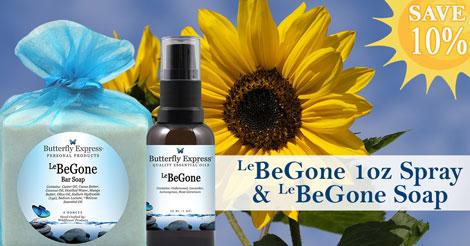 Save 10% on BeGone 1oz Spray and BeGone Soap