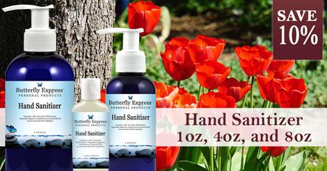 Save 10% on Hand Sanitizer