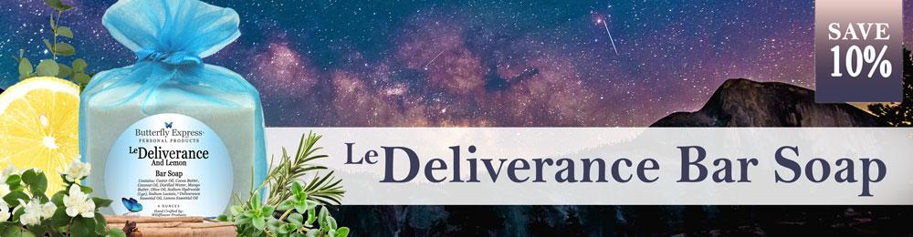 Save 10% on Deliverance Soap