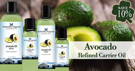 Save 10% on Avocado Refined Carrier Oil