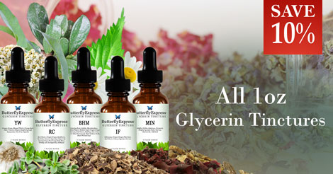 Save 10% all Glycerin Tinctures