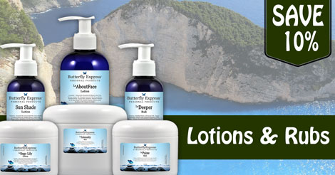 Save 10% on all Lotions and Rubs